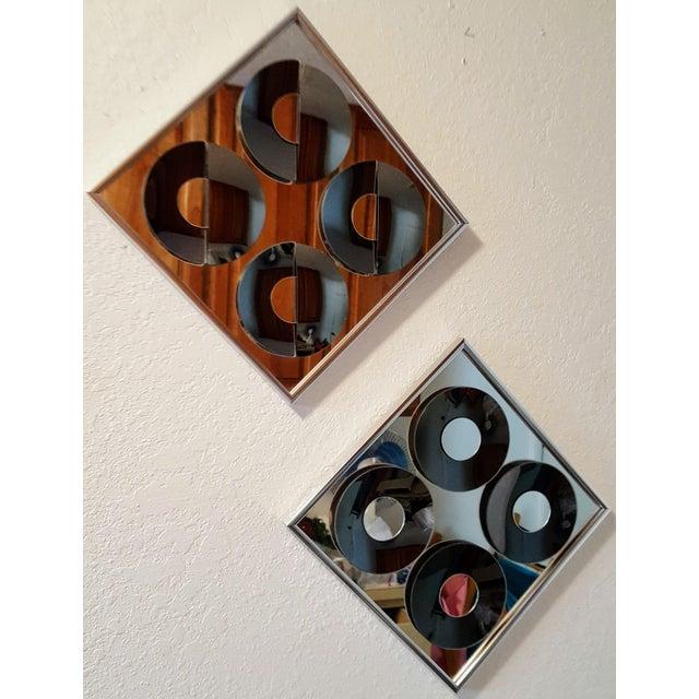 1970s Vintage Hal Bienenfeld Op Art Mirrors - a Pair - Image 8 of 8