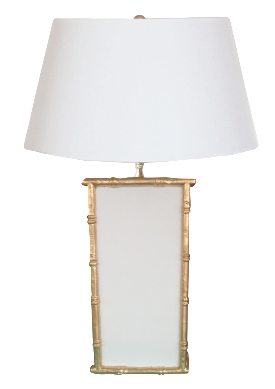 Dana Gibson White Bamboo Table Lamp
