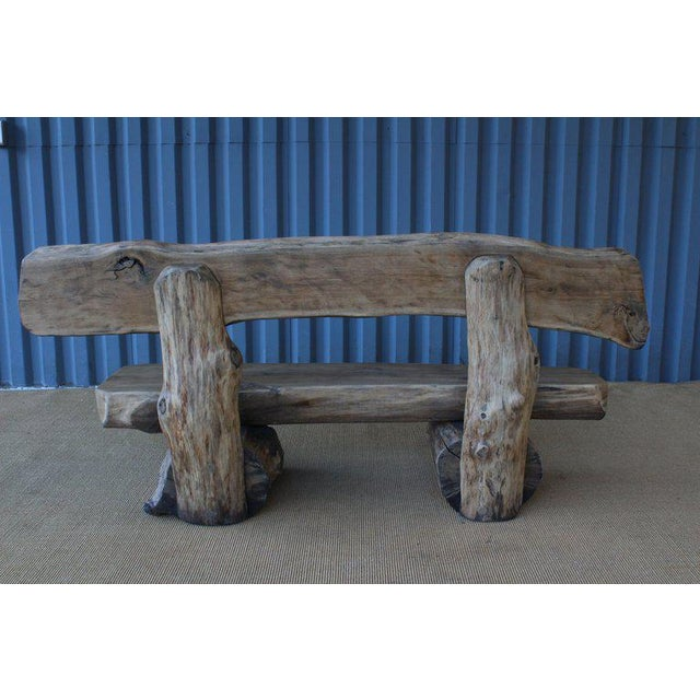 Pair of Oak Benches, France, 1960s. Sold Individually. For Sale - Image 4 of 12