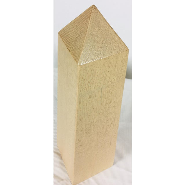 This is a classical obelisk, created in bleached oak. This large scaled Obelisk has tones of cream, yellow, brown And...
