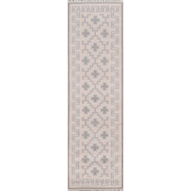 "Pink Erin Gates by Momeni Thompson Brookline Pink Runner Hand Woven Wool Area Rug - 2'3"" X 8' For Sale - Image 8 of 8"