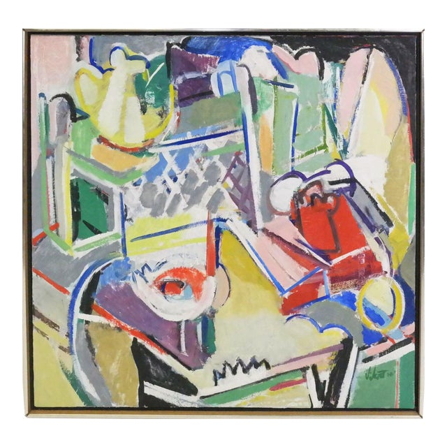 1976 Susan Scott Telephone Still Life Painting - Image 1 of 5