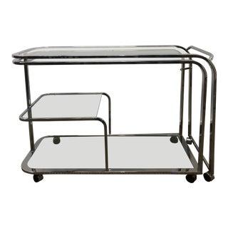1970s Mid-Century Modern Milo Baughman Expandable Bar Cart For Sale