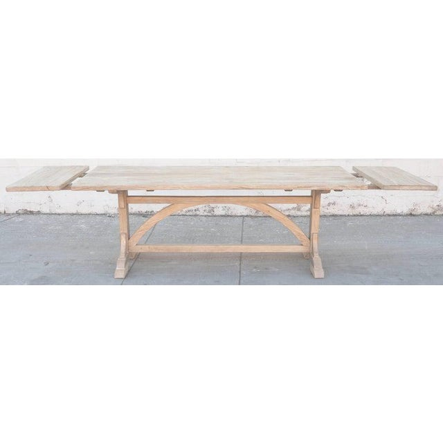 Not Yet Made - Made To Order Petersen Antiques Heart Pine Expandable Farm Table For Sale - Image 5 of 11