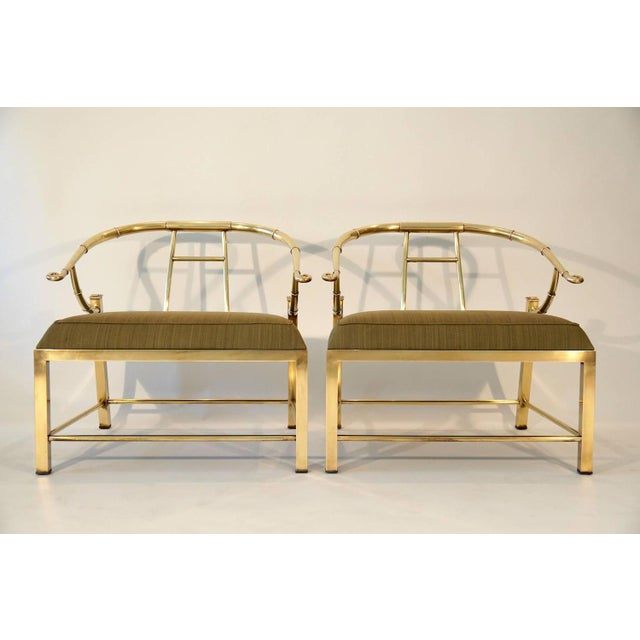 Pair of Brass Lounge Chairs by Mastercraft - Image 2 of 6