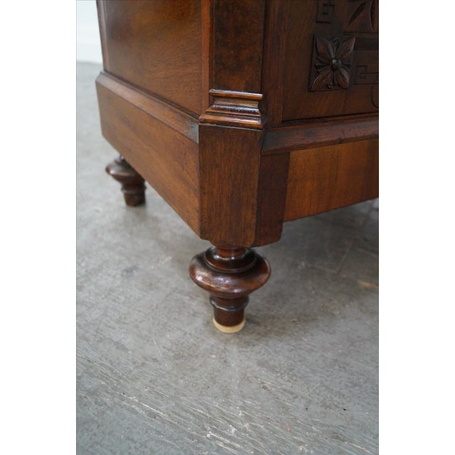 American Carved Walnut Cabinet For Sale - Image 10 of 10