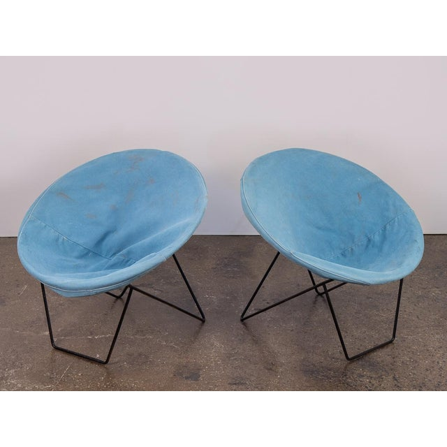 Outdoor Blue Hoop Chairs - A Pair For Sale In New York - Image 6 of 10