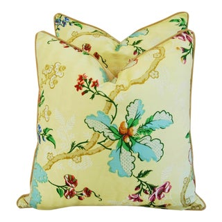 Custom Brunschwig & Fils Fabriano Pillows - Pair For Sale