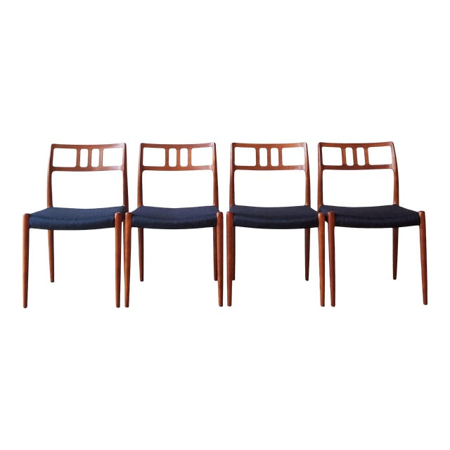 1960s Newly Upholstered Niels Moller Model 79 Side Chairs - Set of 4 For Sale