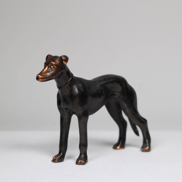 1920s Solid Copper Greyhound - Image 2 of 5
