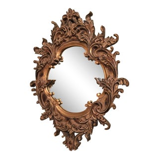 Rococo Gold Ornate Wall Mirror For Sale