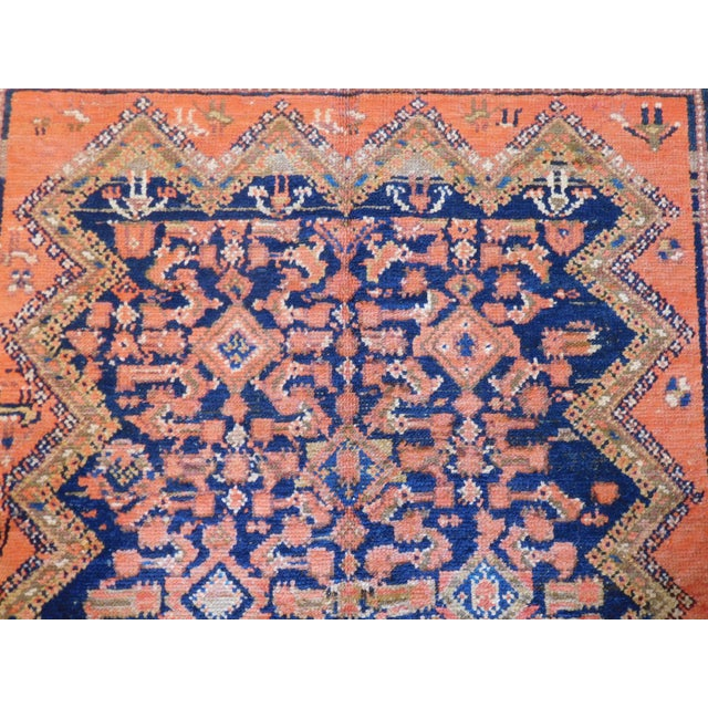 Vintage Persian Malayer Wool Rug - 3′9″ × 7′ For Sale - Image 4 of 5
