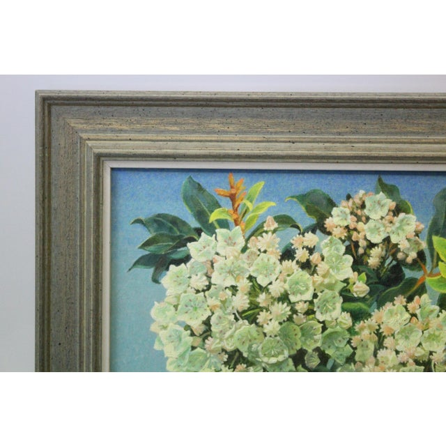 Mountain Laurel and Sky Oil Painting by Buchholz For Sale - Image 4 of 6