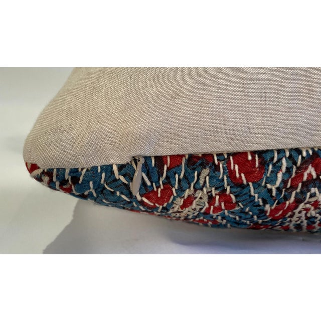 Vintage Textile Decorative Pillow by Pat McGann For Sale - Image 4 of 6