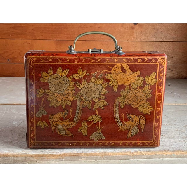 Old Asian Tea Caddy Case For Sale - Image 10 of 11