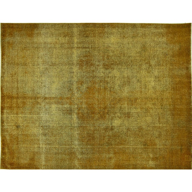"Gold Wash Overdyed Tabriz Rug - 9' 6"" x 12' 5"" - Image 1 of 9"