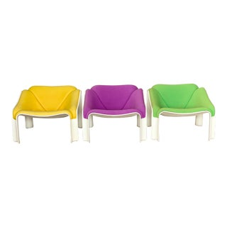 1970s Pierre Paulin Artifort F 303 Lounge Chairs - a Set of 3 For Sale