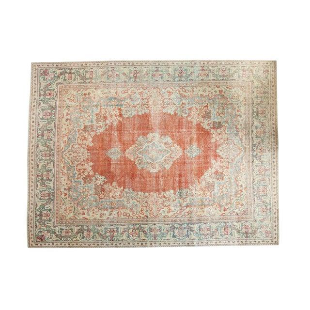 "Vintage Distressed Arak Carpet - 10' x 13'3"" For Sale"