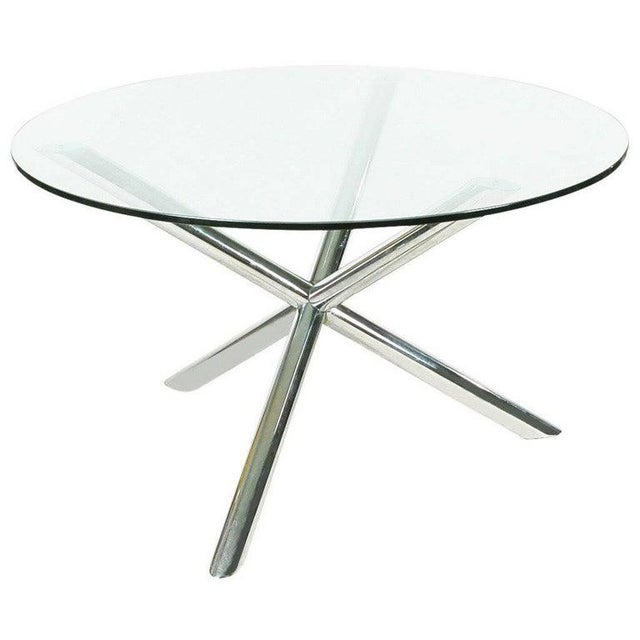 Metal Mid-Century Chrome Jax Tripod Table Attributed to Milo Baughman For Sale - Image 7 of 7