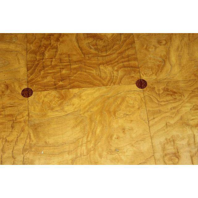 1940s French Art Deco Sycamore / Mahogany Dining Table For Sale In Miami - Image 6 of 9