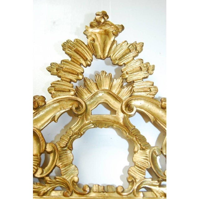 Gold 19th Century Italian Rococo Style Giltwood Mirror For Sale - Image 8 of 9