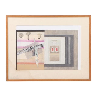 Vintage Abstract Mixed Media Collage For Sale