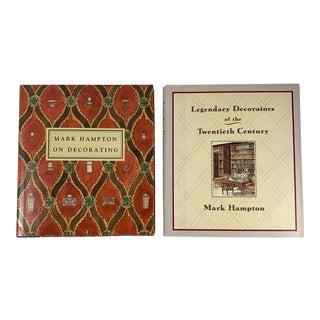 Mark Hampton Watercolor Illustrated Creative Interiors Decorating Books, S/2 For Sale