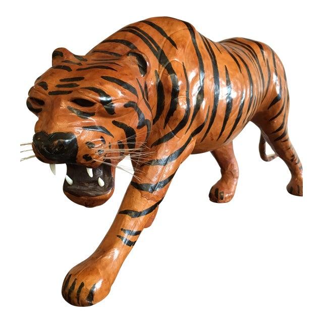 Vintage Leather Tiger For Sale