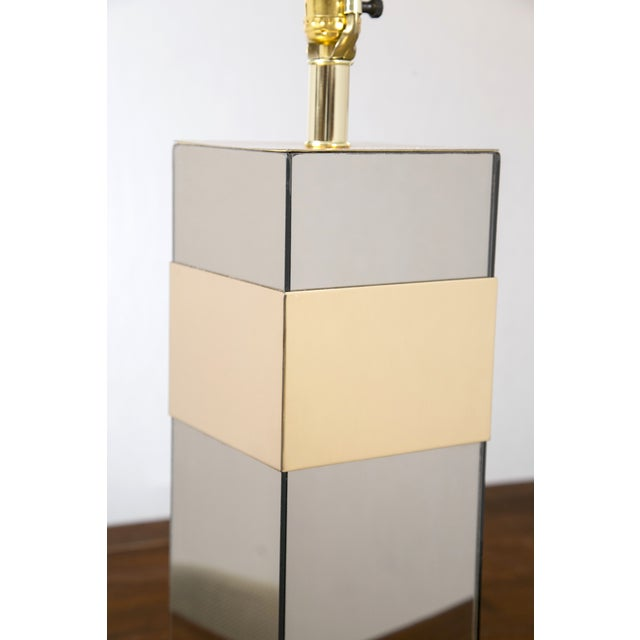 Paul Evans Style Glass & Brass Table Lamp - Image 5 of 7