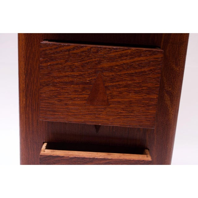 Art Deco Hand Carved Mahogany Three-Drawer Jewelry Chest / Storage Compartment For Sale - Image 11 of 13