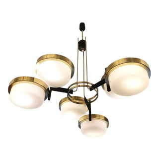 Six Disk Chandelier Attributed to Stilnovo For Sale