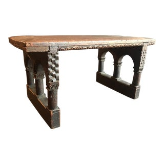 17th Century Antique English Jacobean Carved Oak Miniature Footstool For Sale