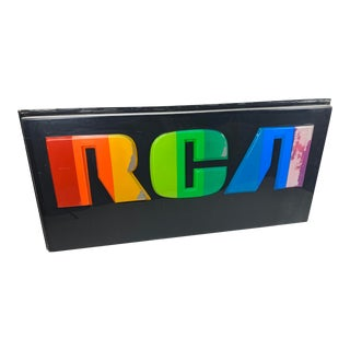1970s Large Vintage Original Rca Spectrum Retail Sign For Sale
