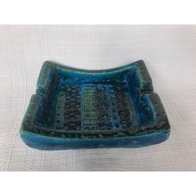 1960s Bitossi Rimini Blue Ashtray Platter Catchall Aldo London For Sale - Image 10 of 10