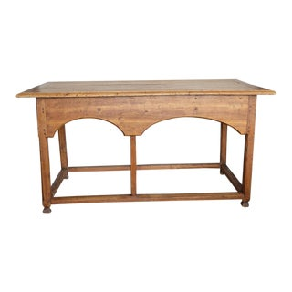 19th Century Antique Rustic French Pine Table For Sale