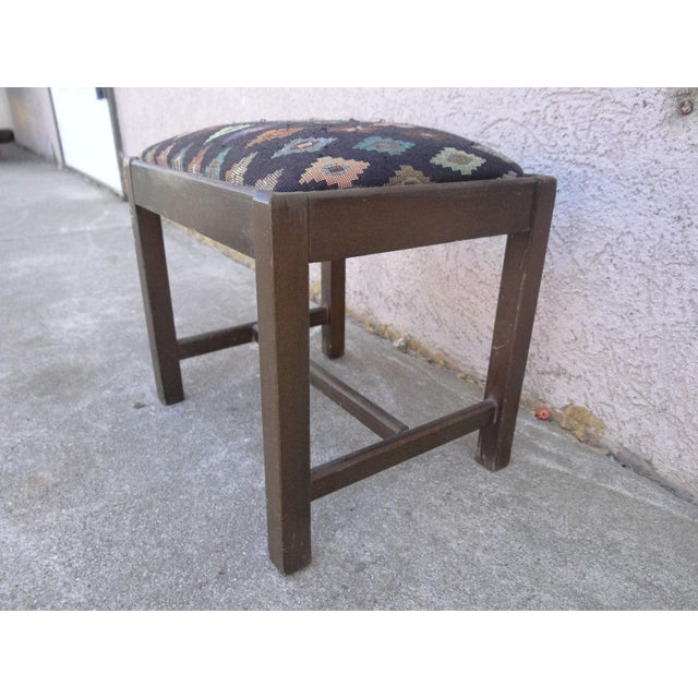 Antique Chippendale Salesman Sample Doll Footstool For Sale - Image 4 of 11