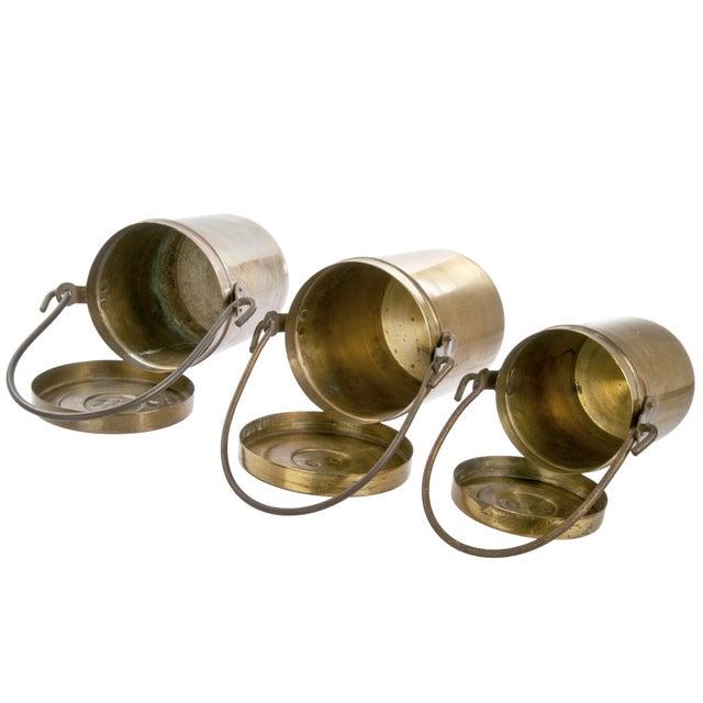 Vintage Copper Pails With Lids - Set of 3 - Image 3 of 3