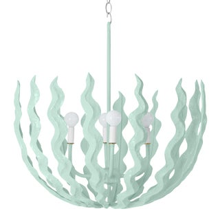 Stray Dog Designs for Chairish Chucho Chandelier, Light Blue For Sale