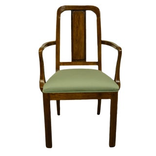 Davis Cabinet Mid Century Modern Splat Back Dining Arm Chair For Sale