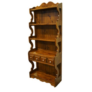 20th Century Country Kling Colonial Solid Pine Wall Unit / Bookshelf Preview