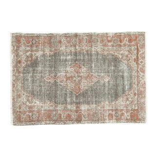 "Vintage Oushak Distressed Rug - 3'8"" X 5'4"" For Sale"