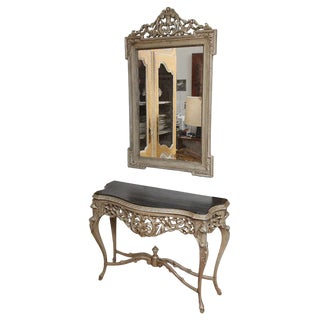 Console Table & Matching Mirror For Sale