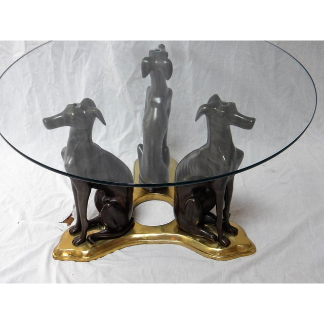 Maitland Smith Bronze Amp Brass Whippets Cocktail Table