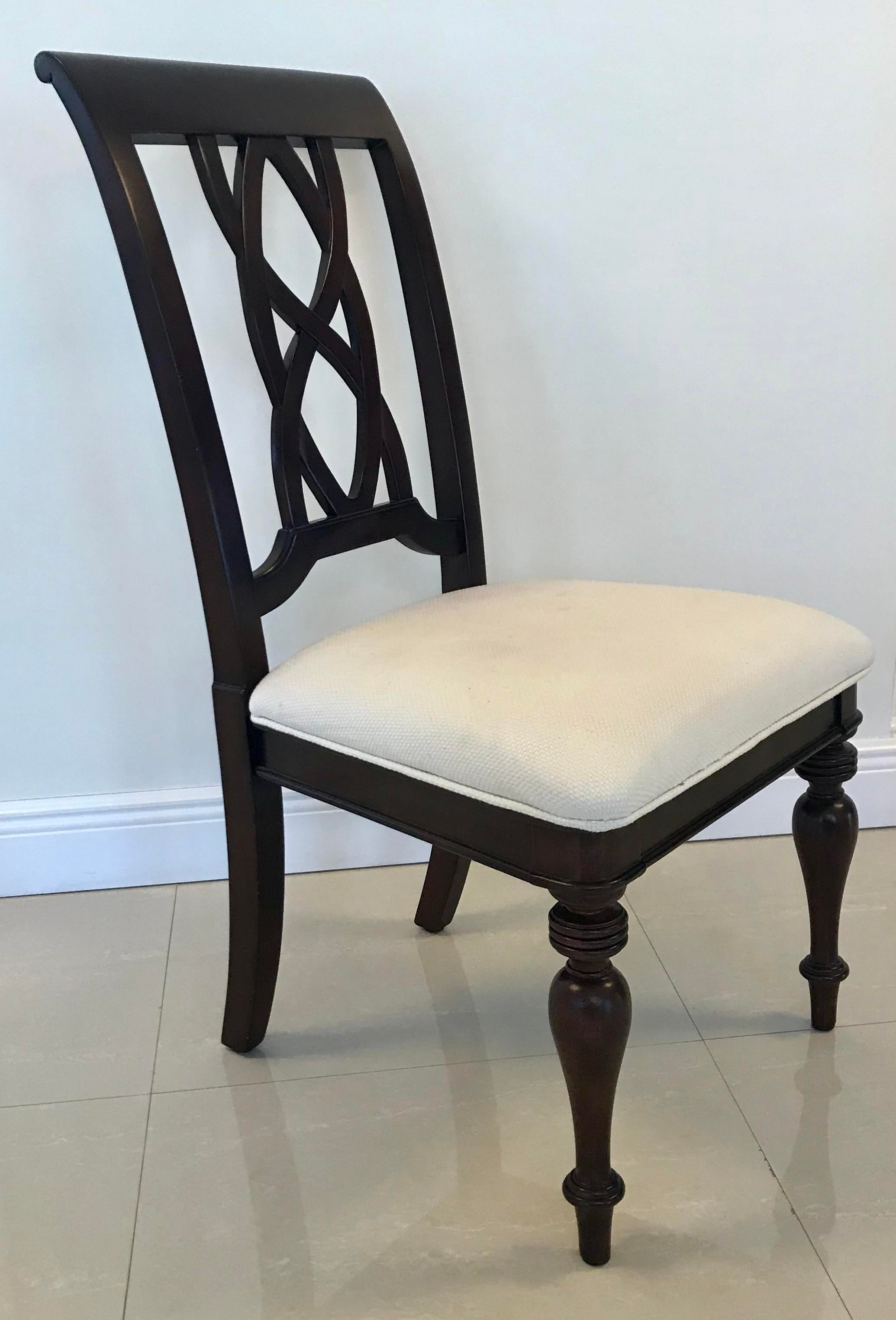 Modern Chippendale Style Dining Chairs  Set Of 8 For Sale In Miami   Image 6