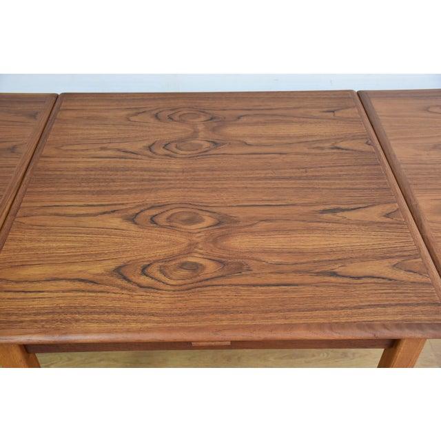 Mid-Century Danish Teak Draw Leaf Dining Table For Sale - Image 5 of 11