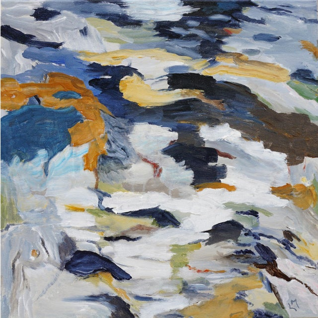 First Thaw is an abstracted memory of the artist's many days spent in the Rockies and California's Sierra. This acrylic...
