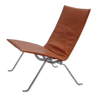 1960s Vintage Early Poul Kjaerholm Pk22 Lounge Chair For Sale
