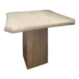Vintage Regency Travertine Side Table For Sale