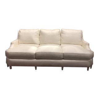 Henredon Ogden Lane White Upholstered Sofa For Sale