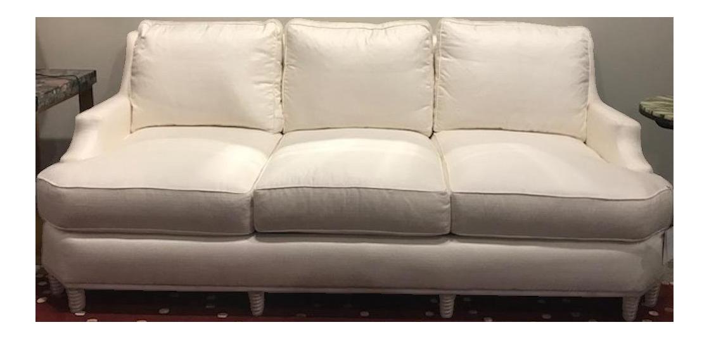 Henredon Ogden Lane White Upholstered Sofa For Sale